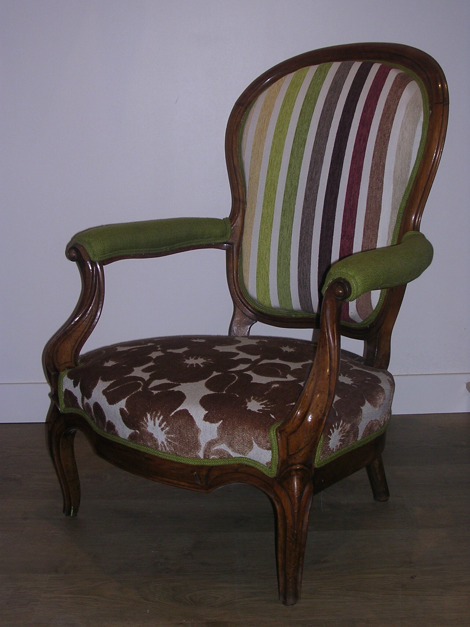 Fauteuil Louis Philippe Rayures