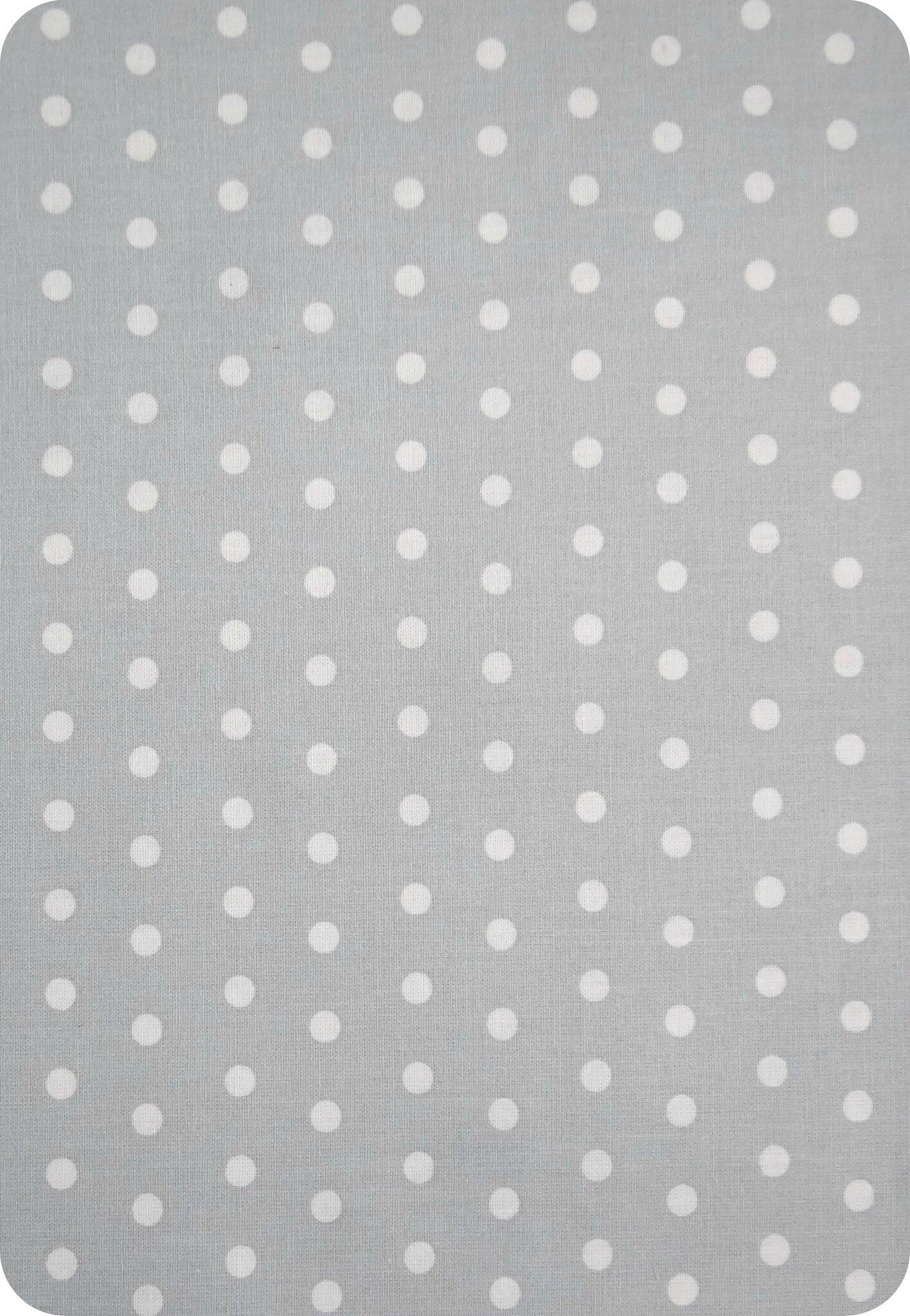 Tissu enduit à pois gris