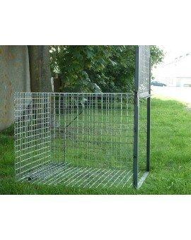 701340 cage a renard 1 entrée 75x75x100