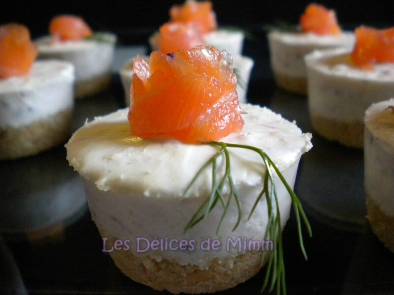 Mini cheesecakes au saumon fumé 5