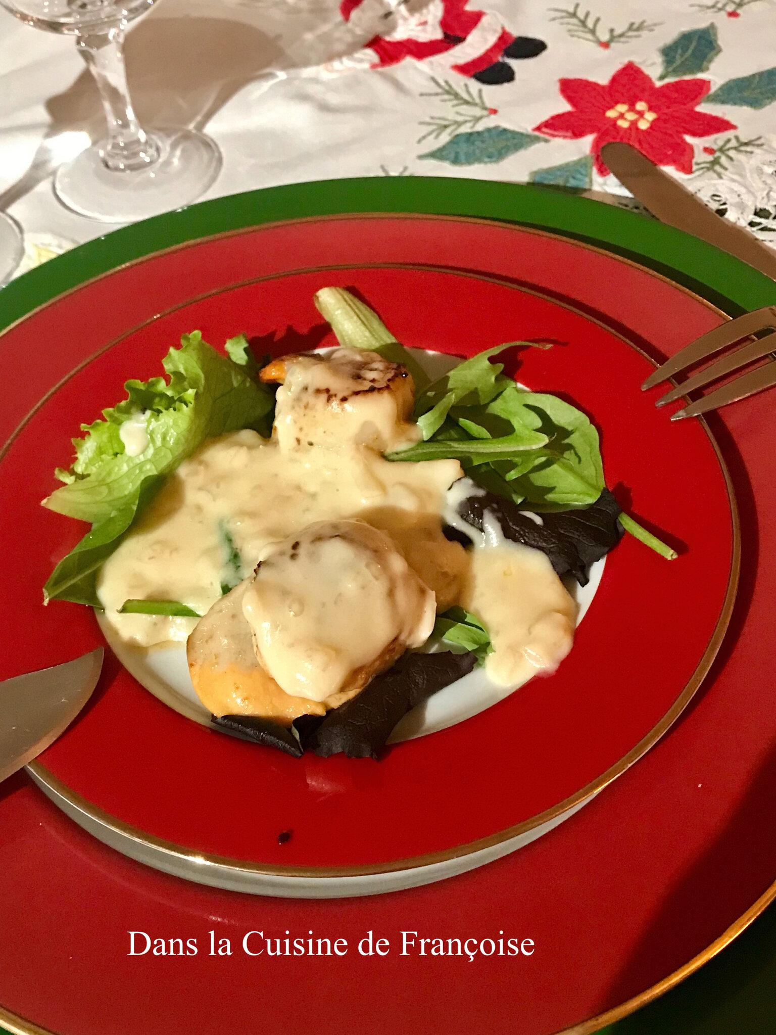 Coquilles saint jacques et sa sauce au champagne dans la cuisine de fran oise - Cuisine au champagne ...