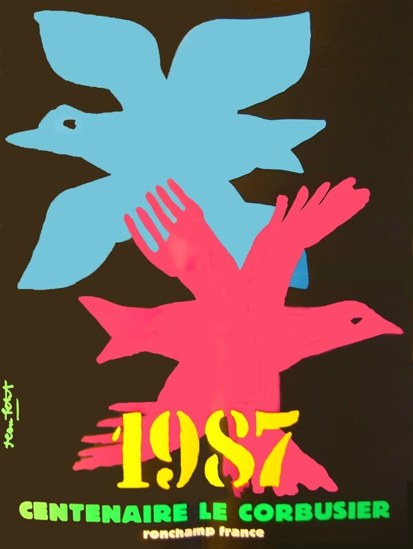 Affiche Ronchamp Centenaire LC 1987