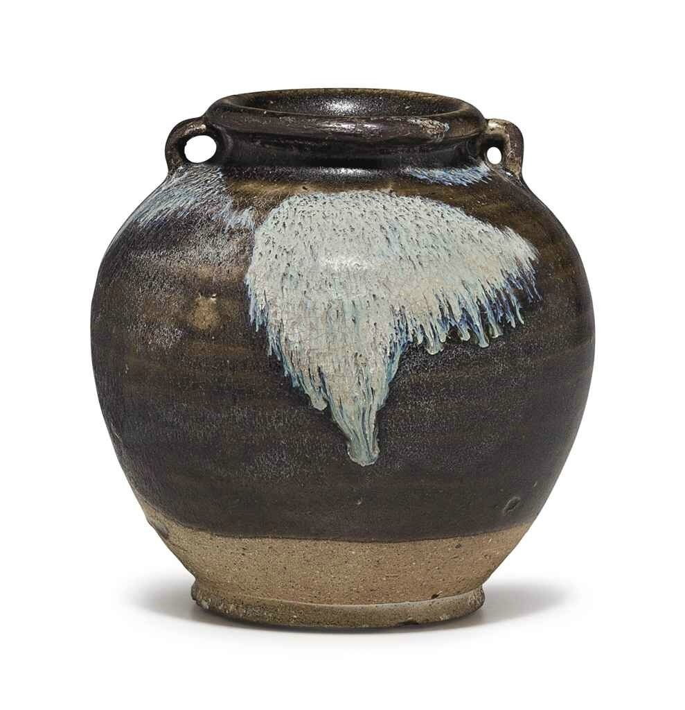 A small splashed-glazed jar, Tang dynasty (618-907)