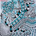 Turquoise zentangle