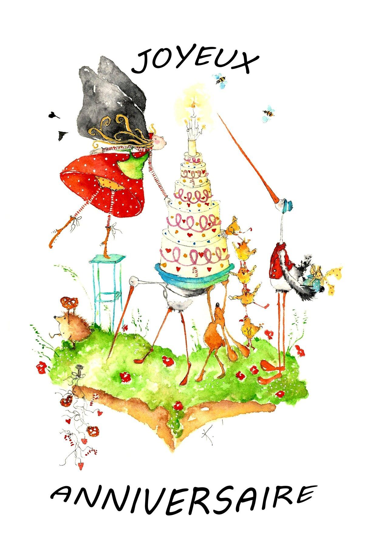 Joyeux Anniversaire Photo De Les Cartes Postales Krol Au Pays
