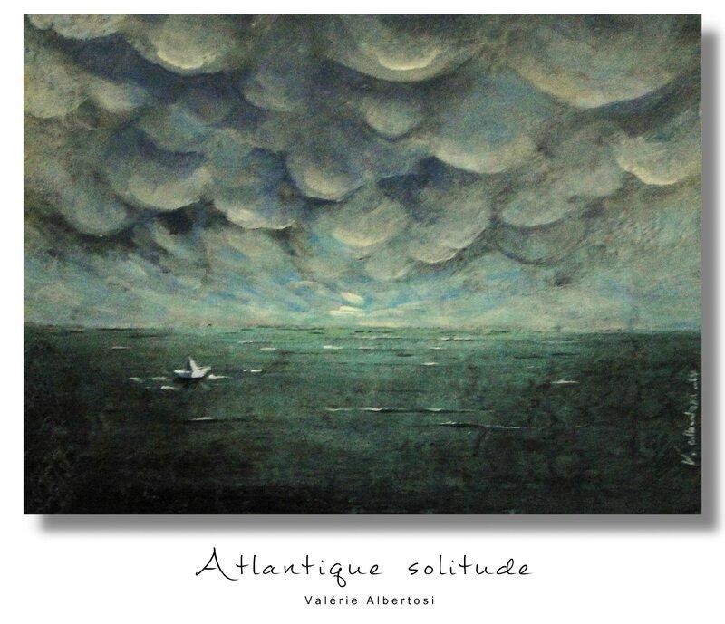 Atlantique solitude tableau mer ocean ciel nuages orage valerie albertosi
