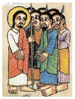 Arrestation de Jésus, peinture copte