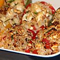 Poivrons farcis au riz a l'orientale