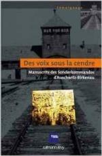 ANONYME, préface de Georges BENSSOUSSAN, Des voix sous la cendre