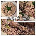 Terrine de viande aux noisettes et aux pistaches