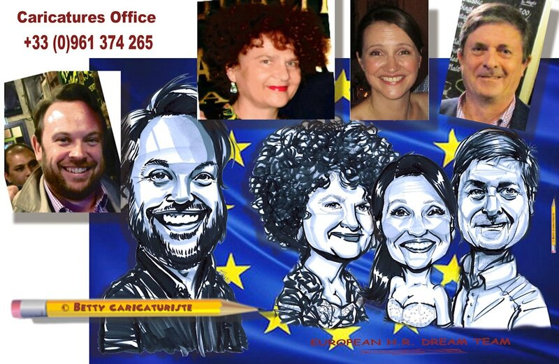 cartoonist colleague collegue caricature caricaturiste parlement europeen european team