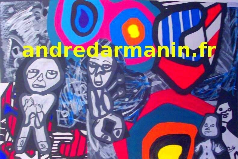 PEINTURE - ANDRÉW - DUBUFFET STYLE (GRAND FORMAT)
