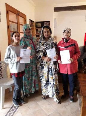 Fatima la vice-présidente d'Ourika Tadamoune avec Nuhyala, Meriem et Farah