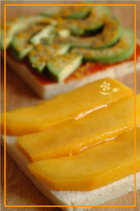 Croque avocat, curry, mangue, tomate_2