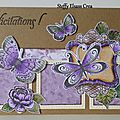 Cartes papillons violet