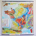 Affiche ... carte géologique de la france (1968) *