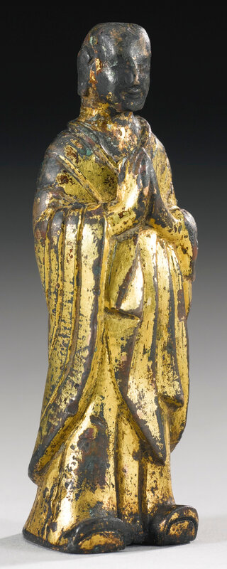 A gilt-bronze figure of Ananda, Northern Wei dynasty (386-534)5