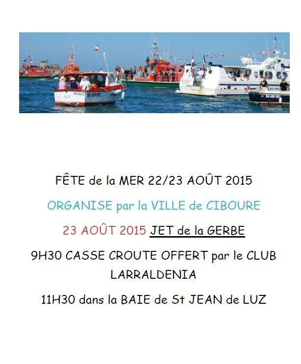 jet de gerbe fête de la mer 2015