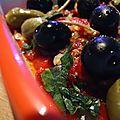Salade poivrons rôtis aux câpres & olives