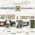 Createurs nomades! matiere a création