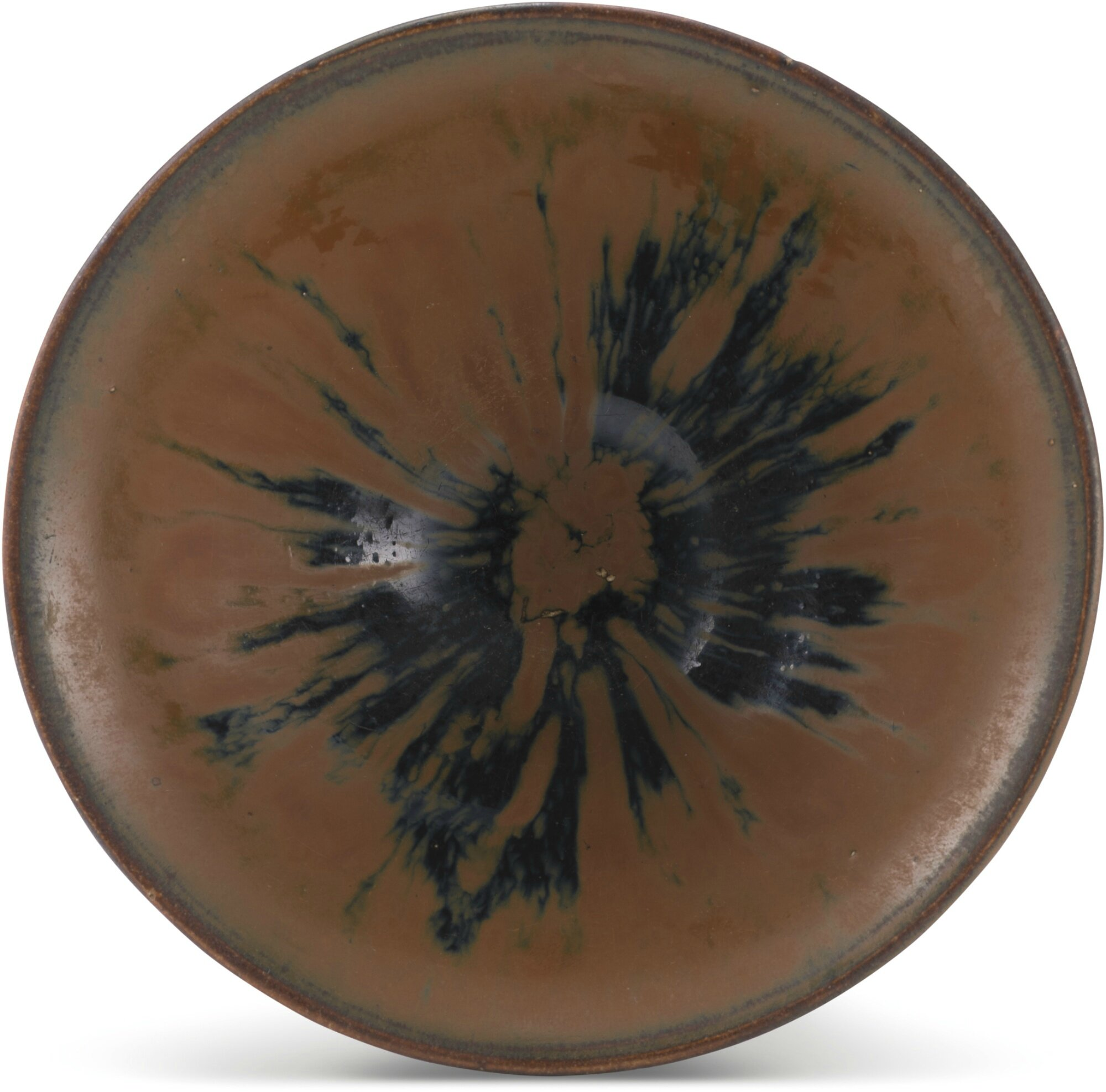 A 'Cizhou' persimon-glazed 'temmoku' bowl, Song dynasty