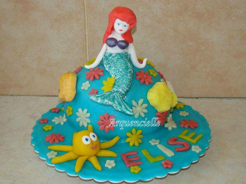 Gâteau au chocolat Petite Sirène Disney