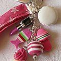 Fête des Mères (marque page rose et blanc)