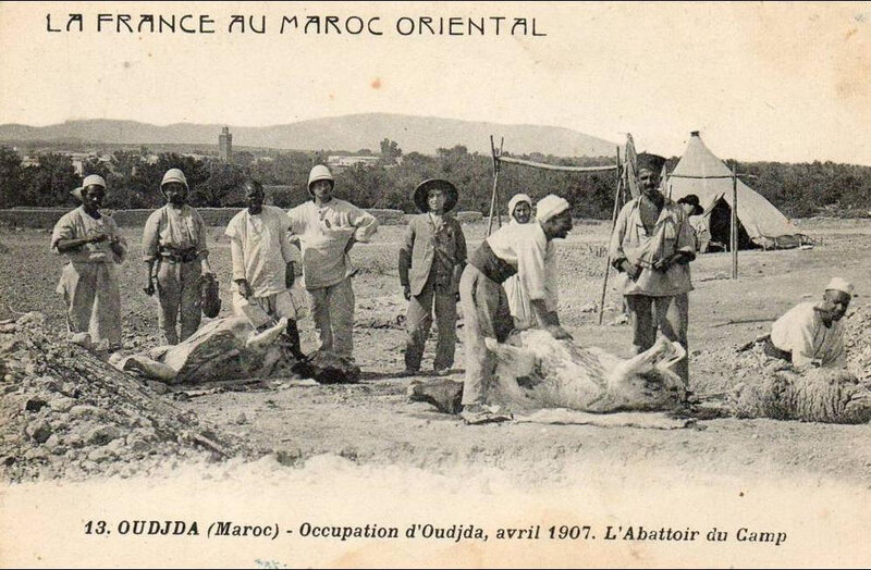 Boumendil-Oujda-avril-1907-13-abattoir