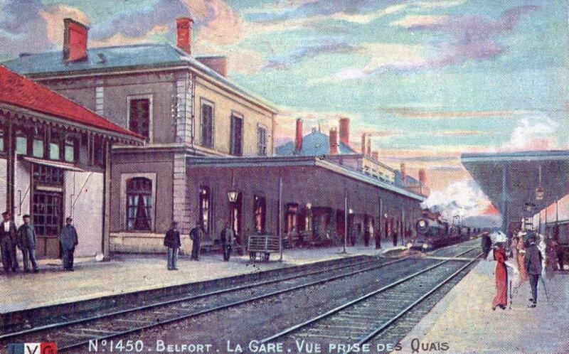 CPA Belfort Gare Voies LVC