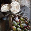 Roses de papier de soie